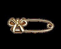 Золотая булавка Бантик