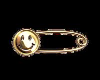 Золотая булавка Смайлик