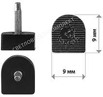 Набойки полиуретановые KANEIJI, р. 9*9 мм, штырь 2.9 мм, цв. черный