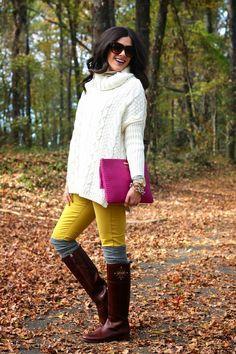 как носить гетры осенью