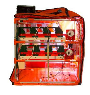 Автоматический инкубатор-конструктор (220V) на 56 яиц водоплавающих птиц, с увлажнителем, фото 2