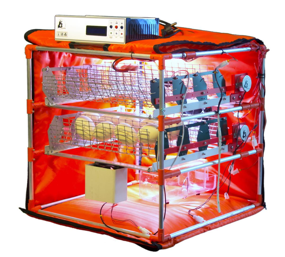 Автоматический инкубатор-конструктор (220V) на 56 яиц водоплавающих птиц, с увлажнителем