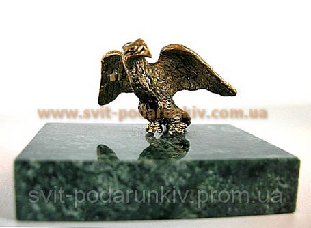 Бронзовая фигурка Орел, памятный сувенир, фото 2