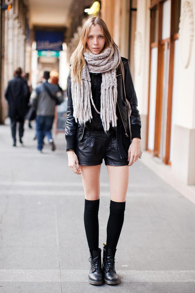 с чем носить гетры фото осенью