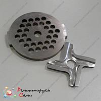 Комплект решетка и нож для мясорубки Moulinex HV2, HV3, HV4, HV6, HV8