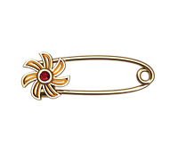 Золотая булавка Цветочек