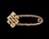 Золотая булавка Славянский символ