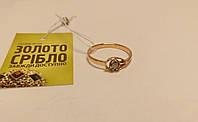 Золотое кольцо с бриллиантом. Вес 1,83 гр. Размер 18.
