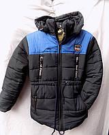Куртка детская парка зима на меху с капюшоном 7-11 лет