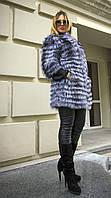 Шуба из натурального меха чернобурки IF 033