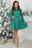Платье замшевое Трин в зеленом цвете, фото 1