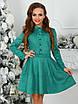 Платье замшевое Трин в зеленом цвете, фото 3