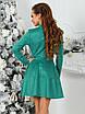 Платье замшевое Трин в зеленом цвете, фото 5
