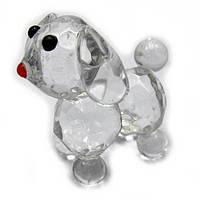 Хрустальная статуэтка Собака символ 2018 года