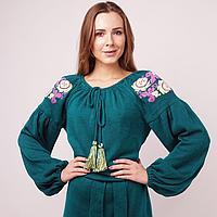 Трикотажное платье-вышиванка KAVERINA