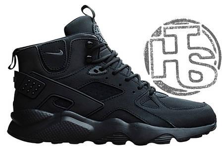 Чоловічі кросівки Nike Air Huarache Winter Black, фото 2