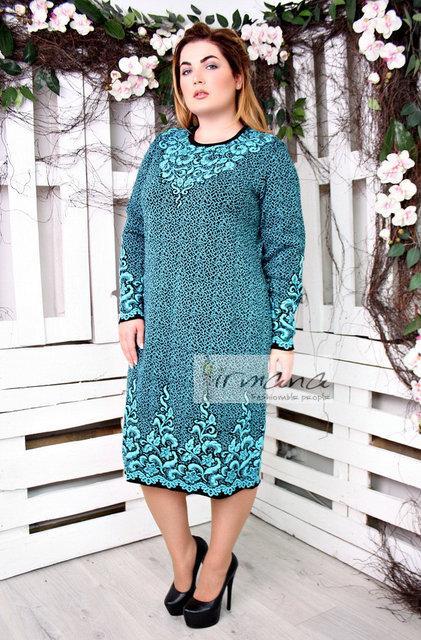 dece067d9ad Теплое женское вязаное платье большого размера ПАЛЬМИРА Irmana 48-50 52-54  56-58 60-62 размеры