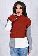Женский свитер вязка SANDRA  цвет Коралл
