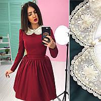 Женское платье  со съёмным воротничком, в расцветках