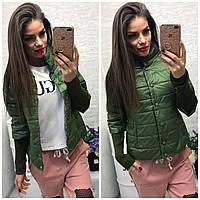 Куртка женская,  модель 205, зеленый хаки