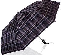 Элегантный мужской зонт полный автомат ТРИ СЛОНА RE-E-907L-10, серый с черным