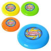 Летающая тарелка M 1989 (288шт) 19,5см, пластик, 4 цвета, в кульке, 19,5-2см