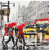 """Картины раскраски по номерам """"Осень в Нью-Йорке"""" набор для творчества"""