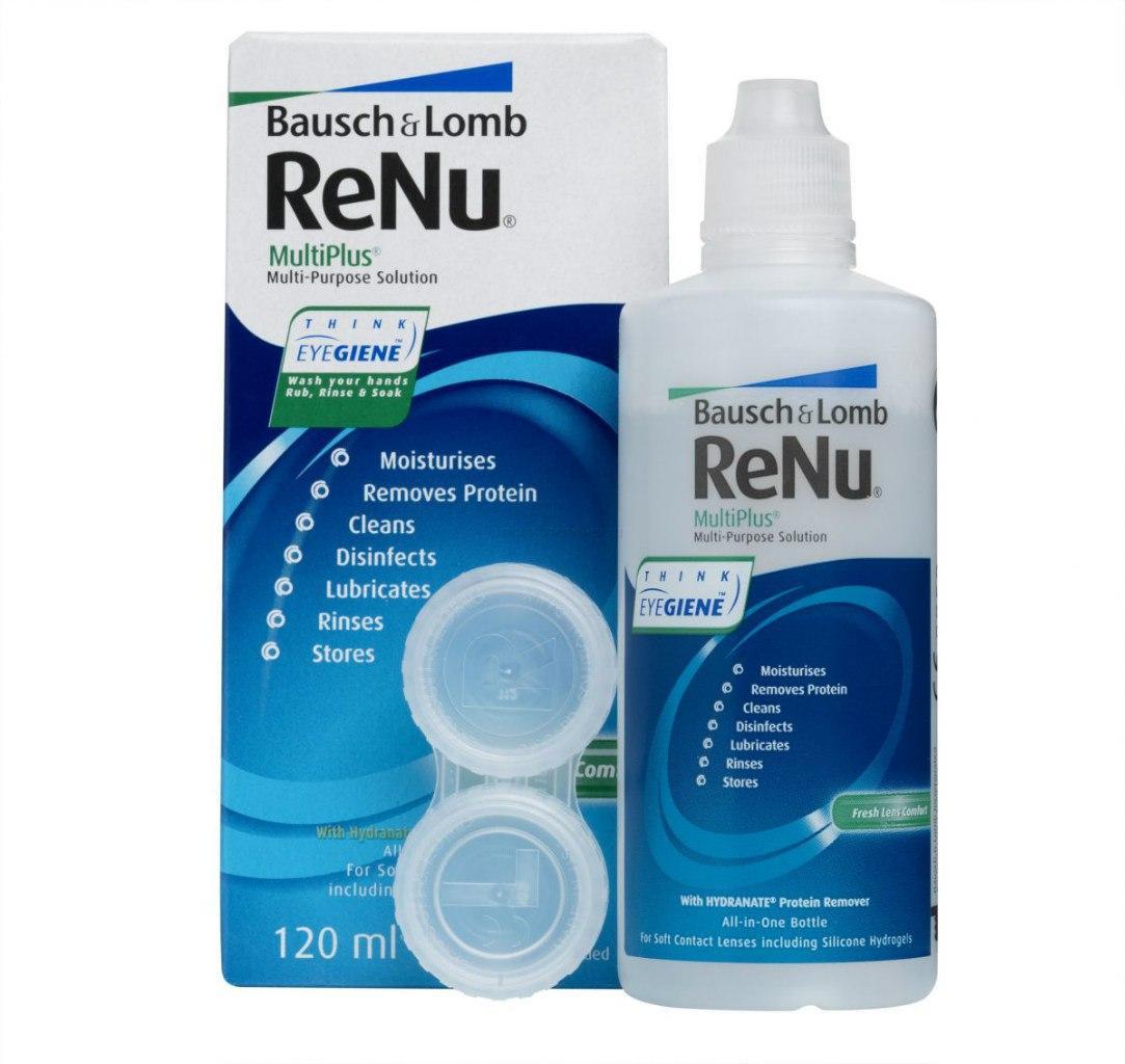 Раствор для контактных линз ReNu 120 ml. Купить недорого в Украине!