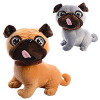 Мягкая игрушка MP 1366 (30шт) собачка, размер средний, звук, 2цвета, на бат-ке, 22см