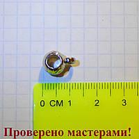 Держатель для кулона 1,2 см (с петелькой), акрил под металл 1 шт