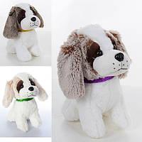 Мягкая игрушка MP 1373 (24шт) собачка, размер средний+, звук, 3цвета, на бат-ке, 25см