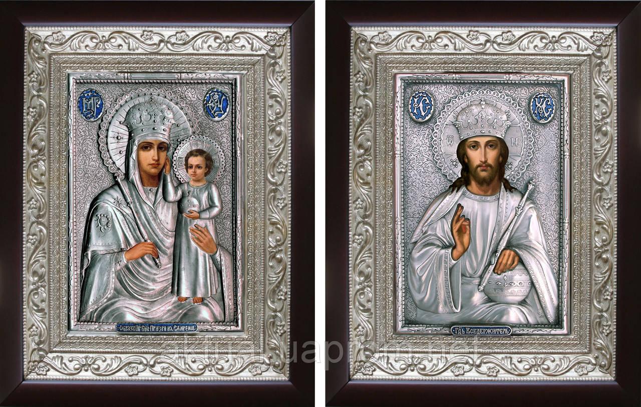Венчальная пара икон «Призри на смирение»