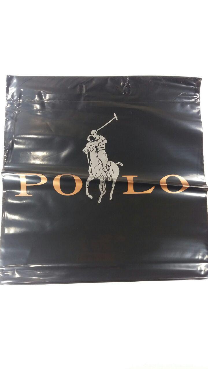 """Пакет с пластиковой ручкой  40*42см """"Поло """" (50 шт)"""