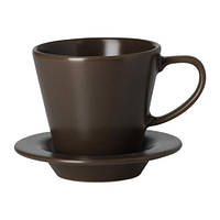 Чашка кофейная с блюдцем, коричневый. 6 шт. DINERA, фото 1