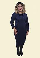"""Женское платье """" Вставки- гипюр"""". Р. 54-62. Модель № 111"""