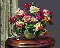 """Картины по номерам """"Чайные розы"""" 40х50см, С Коробкой"""