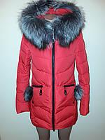 Куртка женская зимняя красная Meajiateer 17-126