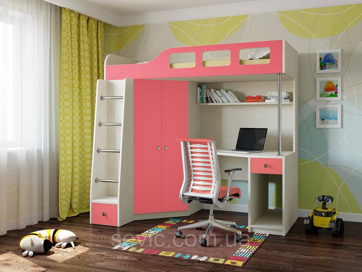 Детская кровать-чердак ДМ-36
