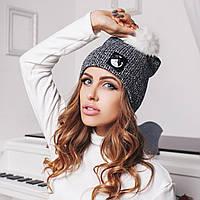 Женская модная шапка с натуральным мехом