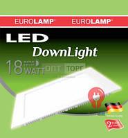 Врезной / квадрат EUROLAMP Светодиодный светильник EUROLAMP LED Panel (квадр.) 18W 5700K 220V