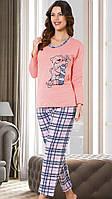 Теплая женская пижама на байке для дома