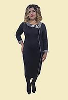"""Женское полосатое платье """" Морячка"""". Р. 54-62, модель № 112"""