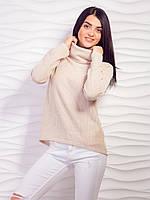 Модный вязанный свитерок  с хомутом  42-48 р, доставка по Украине