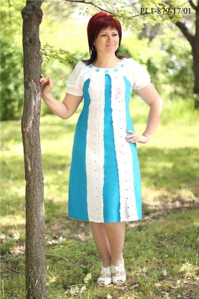 Модное платье больших размеров