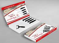 Набор ножей 5пр керамические Royalty Line черные