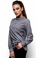 Ультрастильна сіра сорочка за зав'язках Sharlot