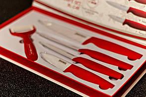 Набор ножей 5пр керамические Royalty Line красные
