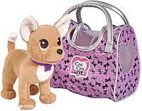 Собачка Simba Toys CCL Чихуахуа Фэшн Вояж с ошейником и сумочкой 20 см (5893124)