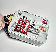 Жестяная коробка Лондон, 10,7х7,7 см