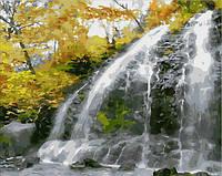 """Картины по номерам """"Водопад и золотые листья"""" [40х50см, С Коробкой]"""